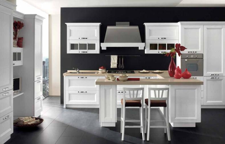 cucina con penisola modello beverly